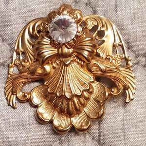 Vintage Angels of Love pin brooch